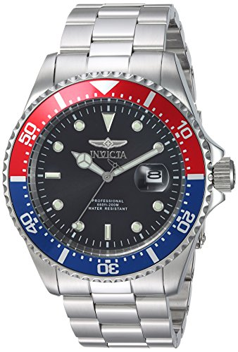Invicta Men's Pro Diver Quartz Diving Watch with Stainless-Steel Strap, Silver, 14 (Model: 23384) ()