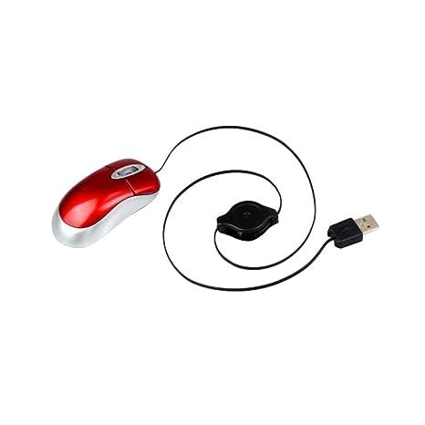 Dolity Red-Retractable Cable Cable Óptico Cables Músicos para PC Ordenador Portátil