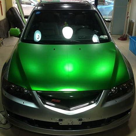verde metallizzato con canali daria cromato opaco Pellicola professionale 3D