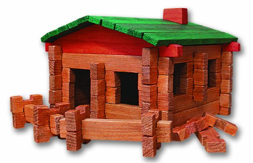 Review Roy Toy 100 Pc. Log Cabin Building Set