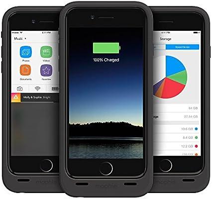 Mophie Space Pack - Carcasa con Cargador de batería y Memoria para iPhone 6/ 6S 64GB, Color Negro: Amazon.es: Electrónica