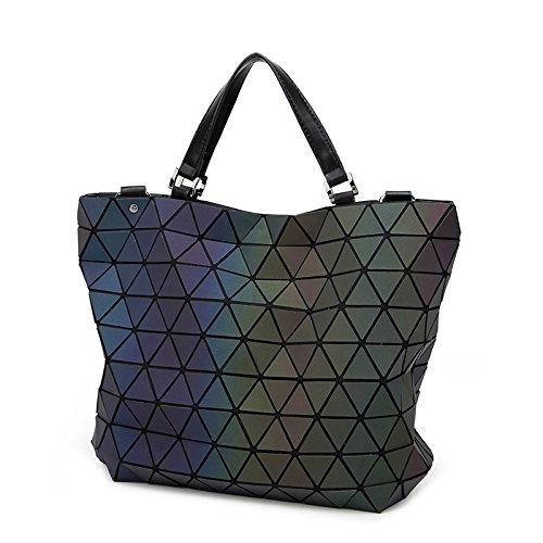 Borsa A Tracolla Da Donna Diamond Luminoso Diamond Stitching Geometry Bag Black