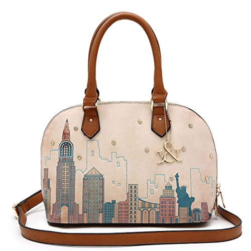 Hue & Ash New York Dome Satchel In Brown Hna84-448