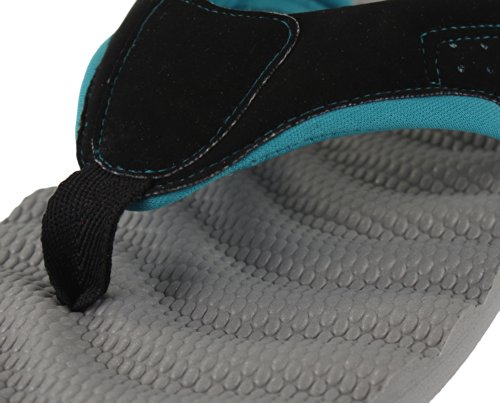 Tongs Sporto black teal Gray Confort Femme Beach TSw0qSta