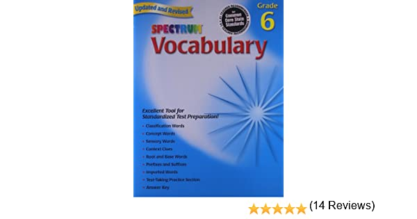 Amazon.com: Spectrum Vocabulary, Grade 6 (0087577957869): School ...