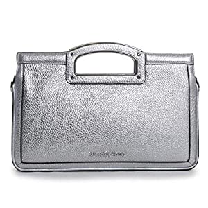 MICHAEL Michael Kors Berkley Legacy Large Clutch Silver One Size 5