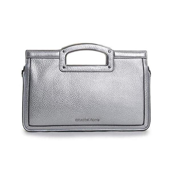 MICHAEL Michael Kors Berkley Legacy Large Clutch Silver One Size 1
