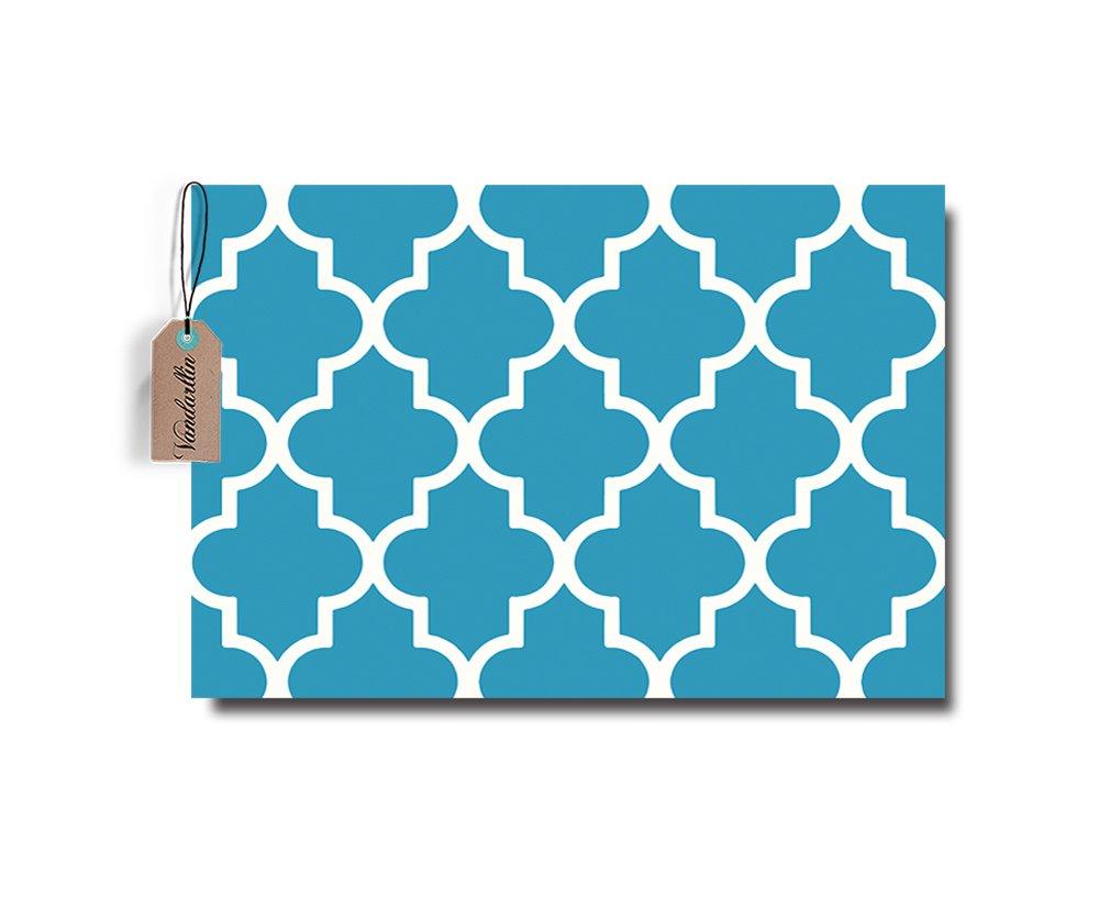 Moroccan Trellis Pattern Doormat Non Slip Entrance Floor Rugs Indoor//Outdoor//Front Door//Bathroom Mats 18x25.6, Orange02
