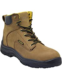 """""""Ultra Dry Men's Premium Leather Waterproof Work Boots Insulated Rubber Outsole"""