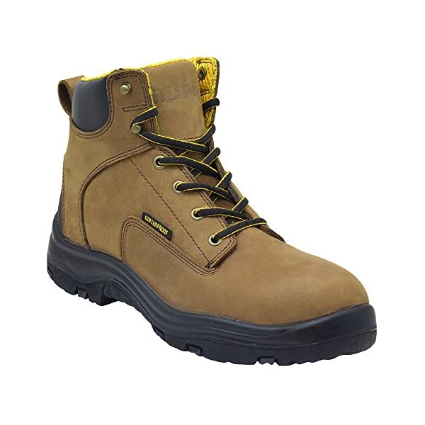 """EVER BOOTS """"Ultra Dry"""" Men's Premium Leather Waterproof Work Boots Insulated Rubber Outsole 1"""
