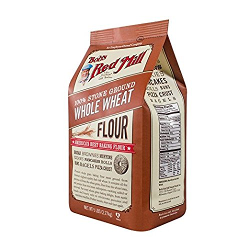 100% Stone Ground Whole Wheat Flour, 5lbs