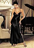 Shirley of Hollywood SOH-20300, Charmeuse and lace long gown. Black L
