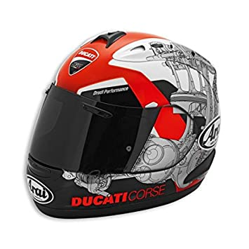 Auténtica DUCATI 981023403 – Corse 14 para hombre, diseño de casco – Multi Color