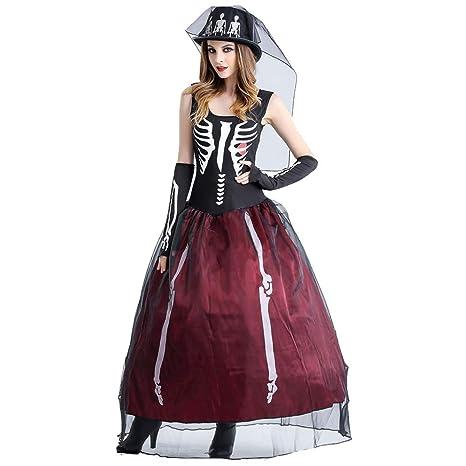 Adulto Disfraz de Halloween,Dama Traje de Bruja Mujeres,Cosplay ...