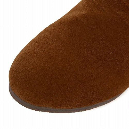 Dunkelgelb Versteckte Westliche Shoes Carol Stiefel Schnee Damen Ferse Bows qwanfCz