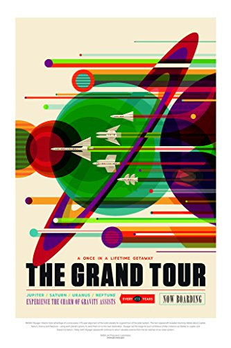 The Grand Tour NASA Space Travel Poster 24x36 inch