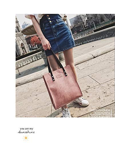 femme portable bandoulière LANDONA cuir coréenne sac sac grand College en Wind sauvages Le Poudre sac nouveau doux à Cartable simples main à IRw8Rq