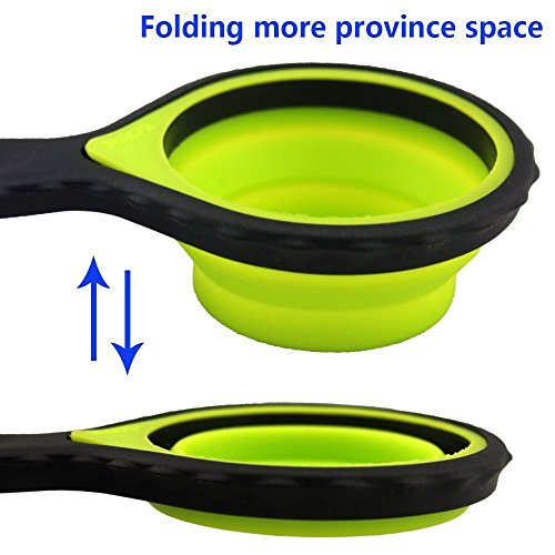 Exceptional Silicone Measuring Cups Collapsible Spoon And Cup Measuring Set 8 Piece  From Evergreen Portable Silicone