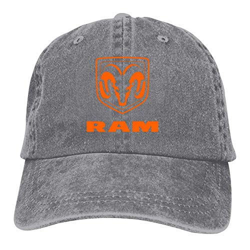Adult Classic Funny Dodge Ram Trucks Car Logo Printed Basketball Cowboy Hats Sport Trucker Snapback Cap