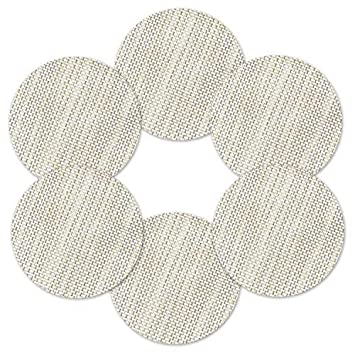 Homcomoda tovagliette all/'americana PVC Tovagliette da tavola Non-scivolose Resistenti al calore Tovagliette in vinile set da 6