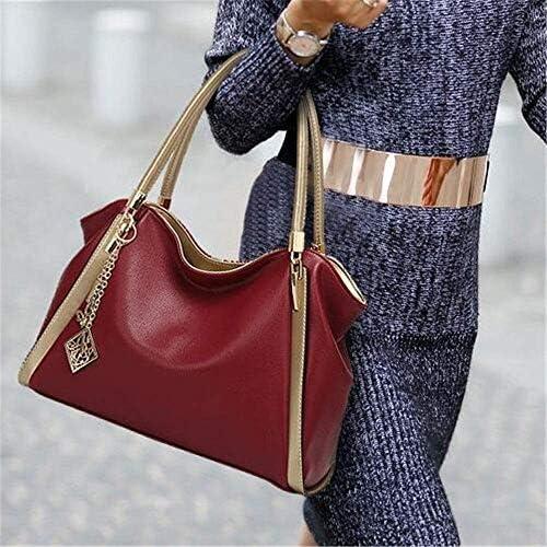 HEMFV Cuoio Donne Fashion Business Bucket Bag Borse Tote Maniglia Superiore Spalla della Cartella con la Chiusura Lampo for Le Signore