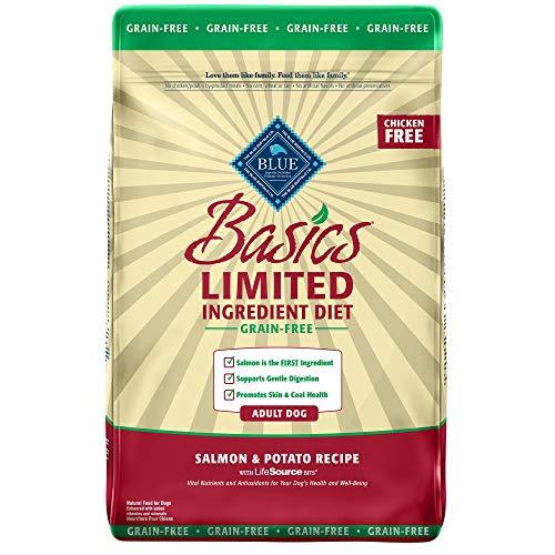 Blue Buffalo Blue Basics Limited Ingredient Grain Free Salmon & Potato Adult Dog Food, 11 lbs.