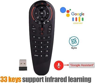 Ocamo G30 Control Remoto 2.4 G inalámbrico Voz Air Mouse 33 Teclas IR Aprendizaje Gyro Sensing Smart Remote para Juego Android TV Box: Amazon.es: Electrónica
