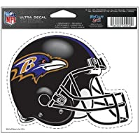 Baltimore Ravens FOOTBALL HELMET ULTRA DECAL clear Static Cling Reusable NFL