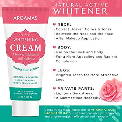 Underarm Whitening Cream, Lightening Cream Effective for Armpit, Knees, Elbows, Sensitive & Private Areas, Whitens, Nourishes, Repairs & Restores Skin