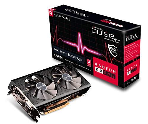 Sapphire Technology 11289-06-20G Radeon Pulse RX 590 8GB GDDR5 Dual HDMI/ DVI-D/ Dual DP w/ Backplate (UEFI) PCI-E Graphic - Radeon