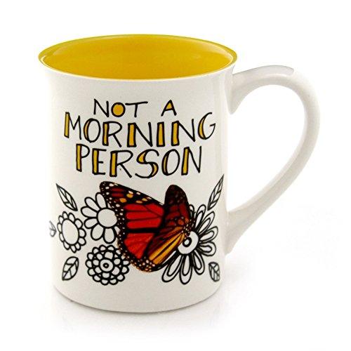 Enesco Hoots 'N Howlers Morning Butterfly Mug, 16-Ounce