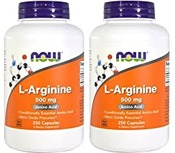 Now Foods L-Arginine (500mg) - 250 ct (Pack of 2)