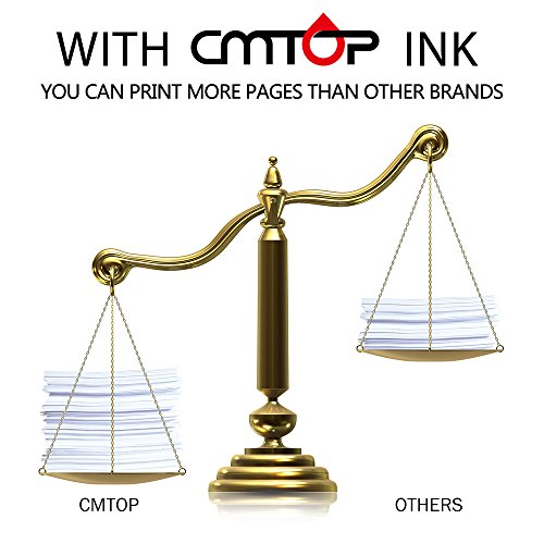 CMTOP 2 Black 61XL Remanufactured Ink Cartridges for HP 61 XL 61XL Ink, High Yield, Work with HP Deskjet 1000 1512 1010 2540 3510 3050A 2510 3000 HP Envy 4500 5530 5534 HP Officejet 4630 2620 Printer by CMTOP (Image #2)