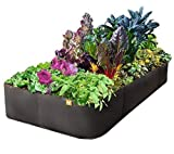 "Victory 8 Raised Garden Bed 3 ft X 6 ft ""Just Right Size"" AeroFlow Proprietary Fabric Pot ""GROW YOUR OWN"""