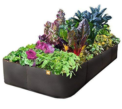 Raised Garden Bed Fabric Pots - 3 x 6 Feet, Victory 8