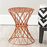 Safavieh Home Collection Charlotte Orange Wire Stool