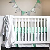 Simply Striking 4 Piece Crib Bedding Set