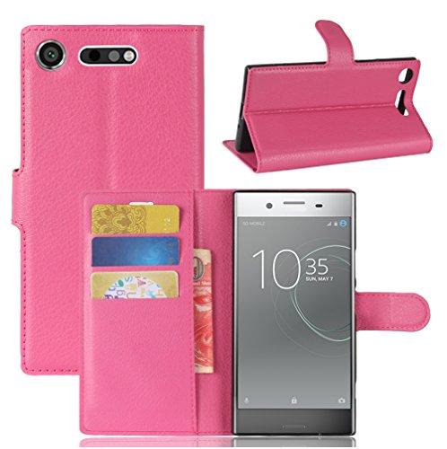 Funda Sony Xperia XZ1,Manyip Caja del teléfono del cuero,Protector de Pantalla de Slim Case Estilo Billetera con Ranuras para Tarjetas, Soporte Plegable, Cierre Magnético G