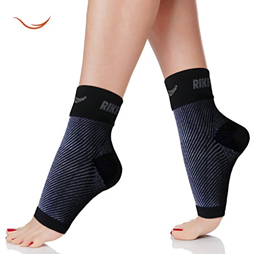 Price comparison product image Rikedom Sports (1 Pair) Best Plantar Fasciitis Foot Sleeves Graduated Compression Heel Arch Ankle Sleeves Socks Brace Plantar Sock for Men and Women, Reduce Ankle Swelling Ankle Spur Blood Circulation