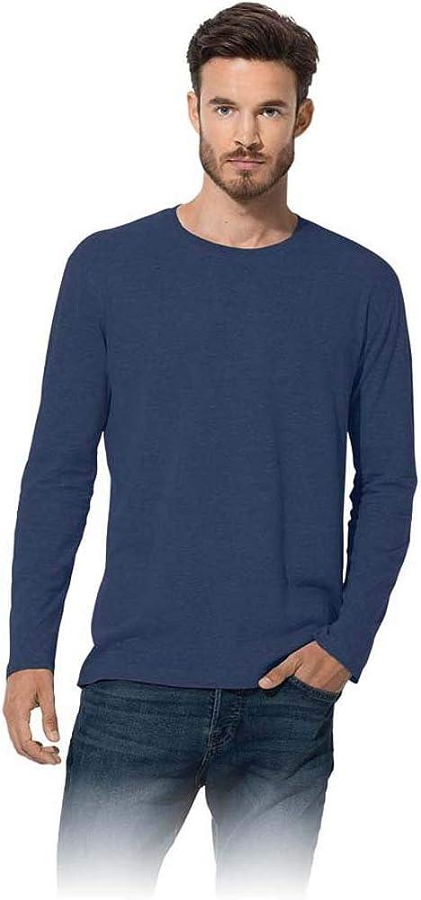 Blu Navy Stedman Apparel Classic-T Long Sleeve//ST2500 T-Shirt L Uomo