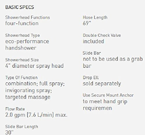 Moen Handheld Showerhead with 69-Inch-Long Hose Featuring 30-Inch Slide Bar, Oil-Rubbed Bronze (3669EPORB)
