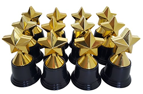 Dondor Plastic Gold Trophy Awards - Bulk Trophy Awards! (Star)