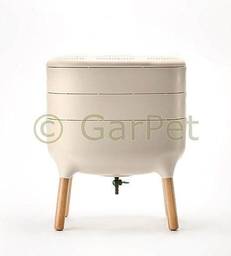 Compostador de gusanos Urbalive, cocina, apartamento, caja, gusanos, balcón, compostador