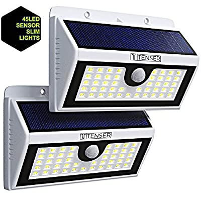 Solar Lights Outdoor 90 LEDs – 2 Pack, Wireless Waterproof Solar Powered Motion Sensor Lights with Auto Night Lights, Wide Angle – Easy Install Security for Patio, Garden, Deck, Yard, Garage, Pathway