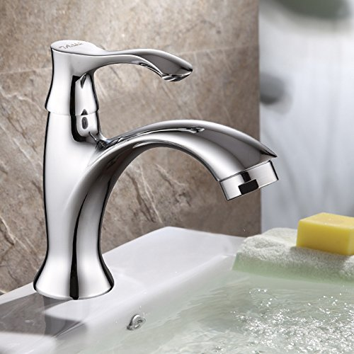 ETERNAL QUALITY Badezimmer Waschbecken Wasserhahn Messing Hahn Waschraum Mischer Mischbatterie Einzigen Griff Einloch Mischbatterie Waschbecken Mixer Single kaltes Wasser