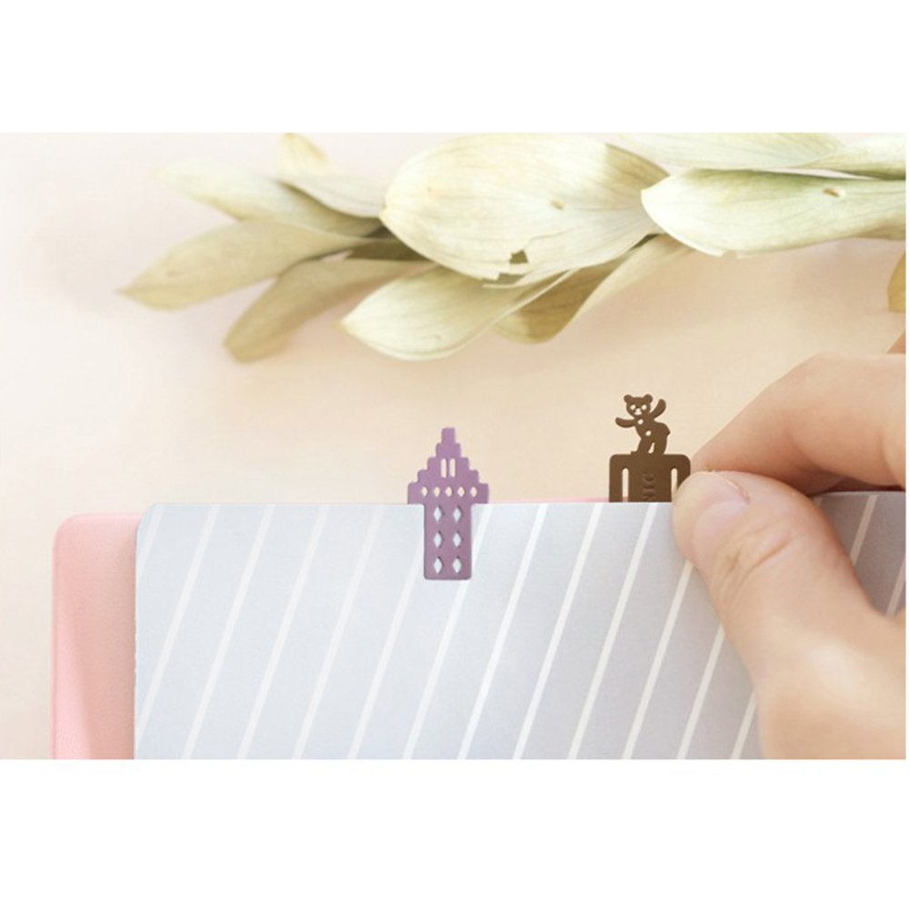 ICONIC Mini Book Mark 4 Sets Unique Design Best for School Students Children Kids Reading Gift