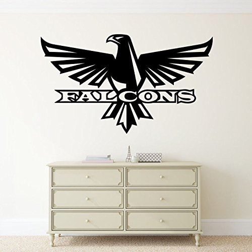 Sports Logo Poster (Atlanta Falcons Vinyl Decal Wall Sticker NFL Emblem Football Team Logo Sport Poster Home Interior Removable Decor)