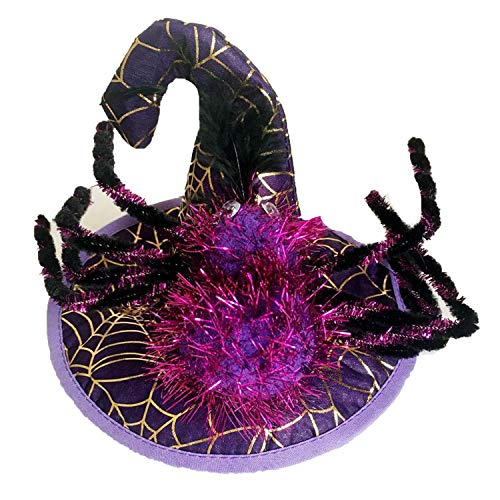 Funny Cute Pet Costume Cosplay Spider Pumpkin Witch Cap Hat for Cat Kitten Halloween Xmas Fancy Dress,PP2,M -