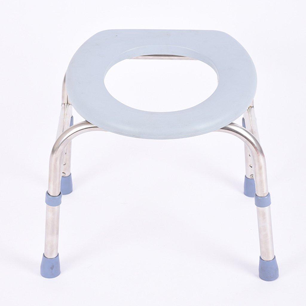 トイレシートスリップ妊娠中の女性高齢者の人々座っている便トイレシートステンレススチール調節可能な高さトイレスツールモバイルトイレ B07CXYYC6J