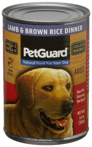 Pet Guard Lamb & Brown Rice Food for Dogs, 14-Ounce Cans by Pet Guard